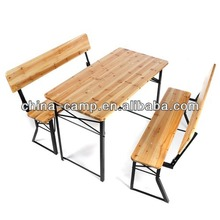 promotion wooden beer table set