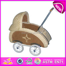 2015 rattan doll carriage for kids,popular doll parm toy for children,hot sale doll bed toy for baby WJ278229