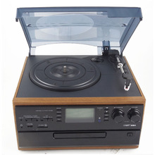 Shenzhen Factory Vinyl Turntable Converter Audio Converter with CD And Cassette Play