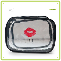 newest high quality transparent clear pvc cosmetic makeup waterproof bag