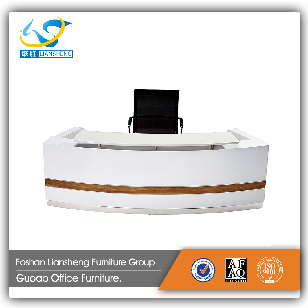 Modern low price white color melamine reception desk in good quality GAR7D21A