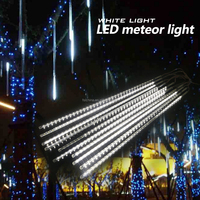 White Color best saler smd 5050 500mm AC220V input led meteor shower light in holiday light