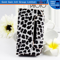 Wallet Style TPU+PC Case Flip Cover For Samsung i9082, Leopard Pattern Handbag Case For Samsung i9082