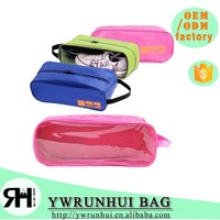 wholesale The newest 600D sports travel shoe bag waterproof transparent shoe bags