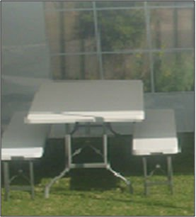1.8m Plastic Folding Table and Bench Set