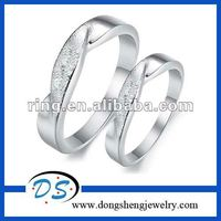 Fashion love puzzle couples Platinum plated rings