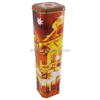 High square decorative wine tin box