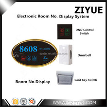 Wired Hotel Guest Room Doorbell Do Not Disturb Displayer, Make Up Room, Button Switch Control