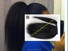 Alibaba <strong>express</strong> Clip in kinky straight ponytail hair extension, 100% human hair ponytail 100g