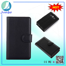 Innovative high quality custom flip cover leather case for lg e610 optimus l5