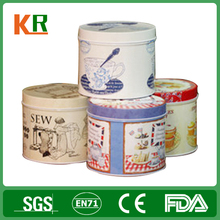 Custom Round Decorative Empty tin Metal Wax Candle Tin Container
