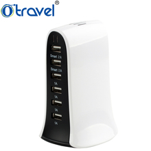 2017 cool products travel charger for phone accessories 6 USB multi port charging station 5V 8A