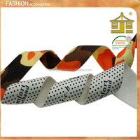 fashion design celebrate ribbon printing for christmas/dresses,cheap fabric ribbon printing wholesale