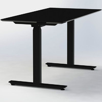 new fashion black computer desk double desk standing work station