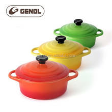 All colors new sale round mini ceramic cocotte with lid