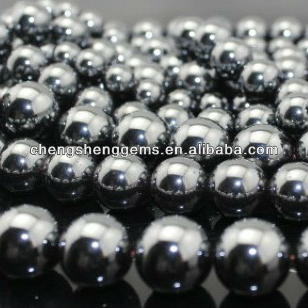 8mm natural round smooth hematite loose gems beads