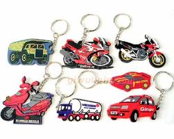 clearance sale cheap affordable various car shape pvc keychain car