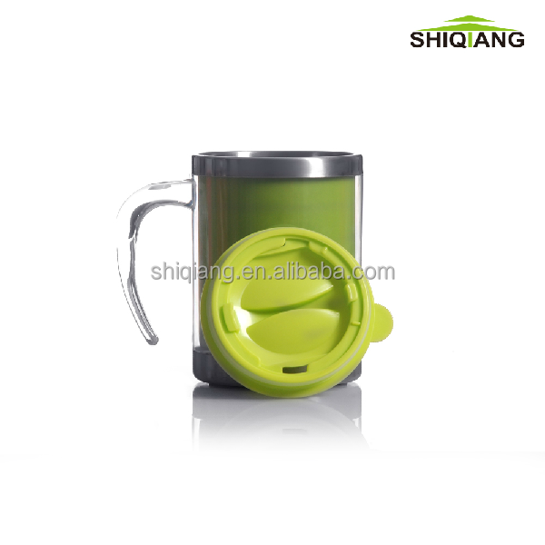 450ml 16oz high quality hot selling promotional coffee mug can put advertising paper insert travel mug auto mug