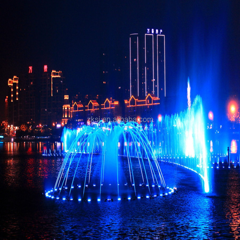 Meishan Dongpo Island Large scale musical water fountain
