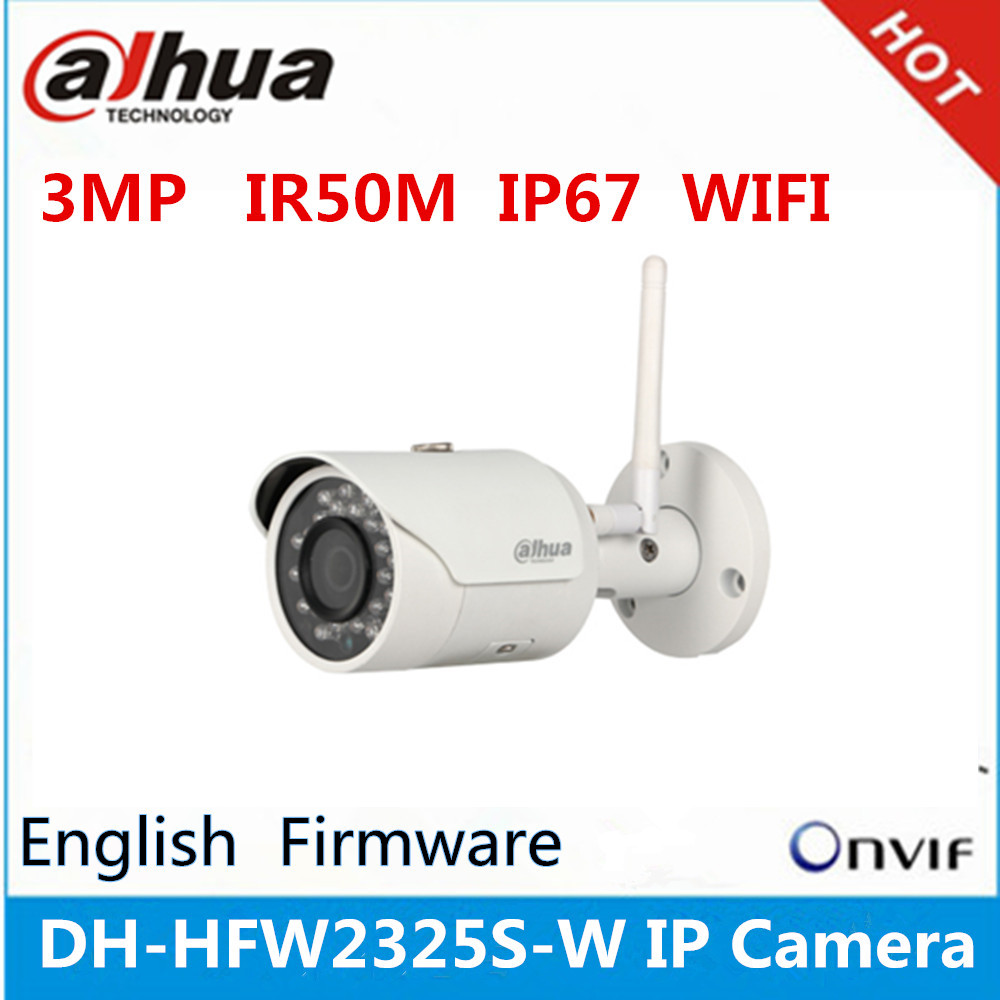 cheap cctv cameras dahua IPC-HFW2325S-W <strong>WIFI</strong> 3MP IR50M IP67 surveillance outdoor camera