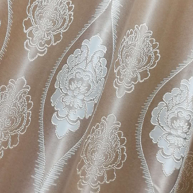 High Density Yarn Dyed Woven Blackout Jacquard Curtain Fabric Blackout Window Curtains and Drapes for Cafe Home Hotel