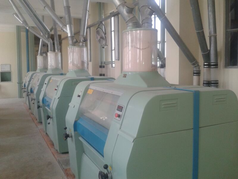 Used flour mill clean