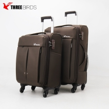 wholesale custom leisure style smart carry on suitcase soft luggage