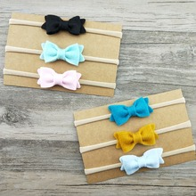 Infant toddlers baby knot bow hairband accessories elastic felt <strong>headbands</strong>