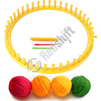 OEM plastic knitting tool diy knitting set kid toys set color yarn set