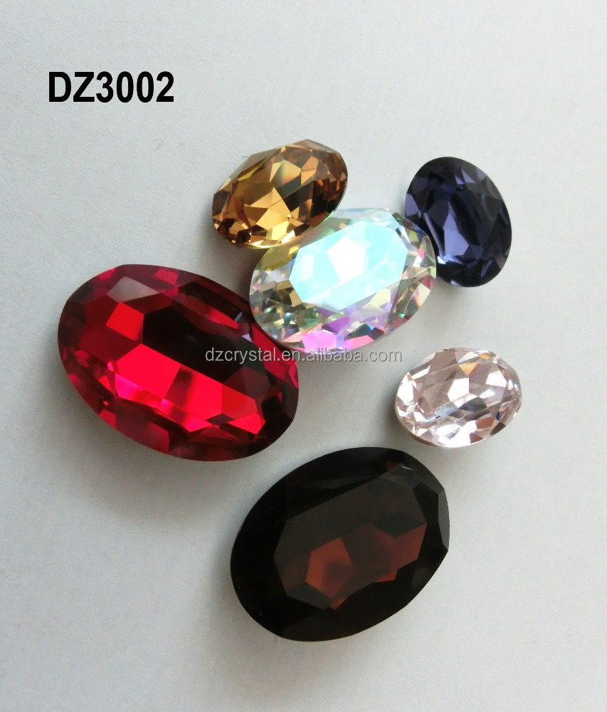 colorful loose fancy stones glass gemstone 13*18mm rhinestone for phone case decoration