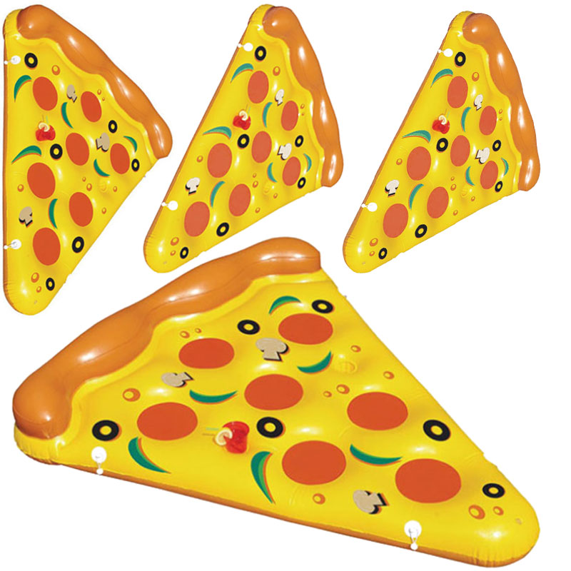 Water sports giant inflatable pizza slice swimming pool float/plastic pizza mattress bed with CE EN71