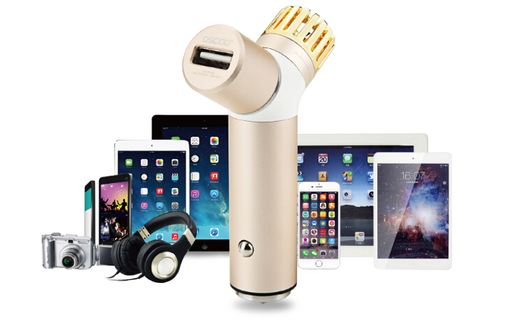 """OSCOO"" Wholesales car charger with air purifier and emergency hammer"