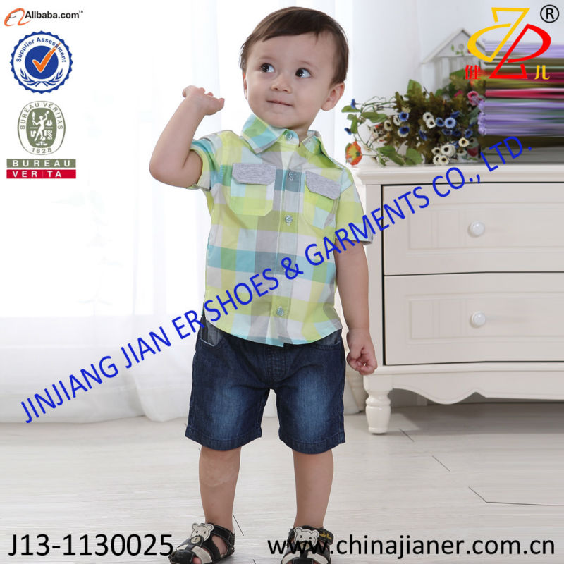 2014 new style woven fabric toddlers clothes wholesale kids clothing
