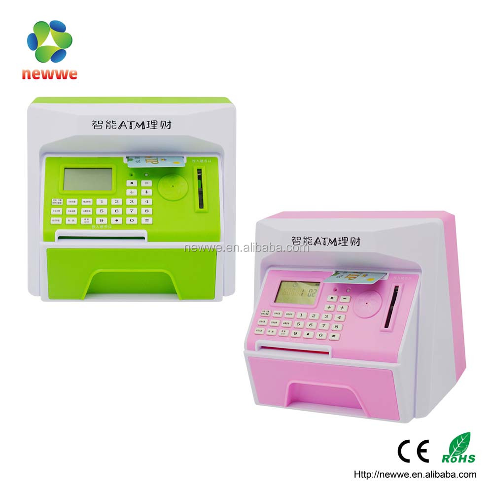 ATM custom plastic mini component box electronic piggy bank