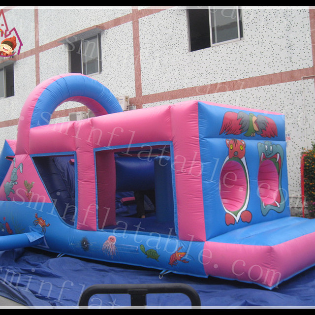 New Inflatable Climb Slide Obstacle Course Moon Bounce Jumping House Rental