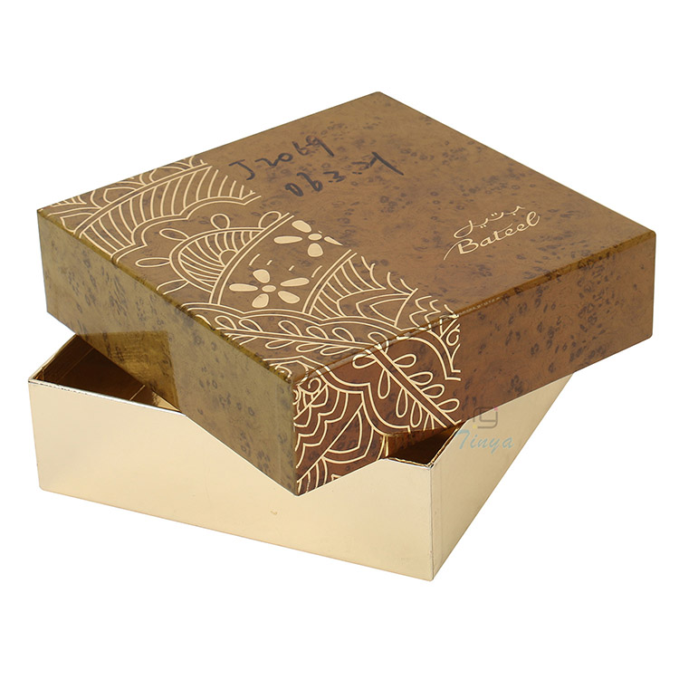 hot stamp luxury cardboard box chocolate packaging