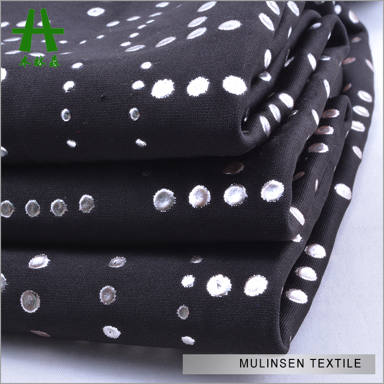 Mulinsen Textile 90 Polyester 10 Spandex Heavy Weight DTY Scuba Dew Drop Fabric