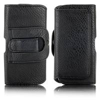 Black Belt Clip Magnetic Pouch Holster Flip Leather Case for iPhone 5 5S