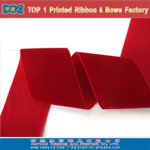 High quality kinds of wide velvet ribbon with solid color