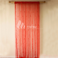 Royal style latest design decor kitchen string curtain fabric