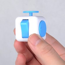 white & blue whosell Fidget Cube best sell 3.3cm Relieves Stress and Anxiety for Children and Adults, Fidget Spinner