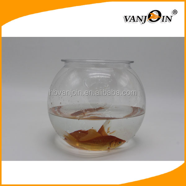BPA free 4L clear PET plastic round fish tank/ mini Goldfish bowl