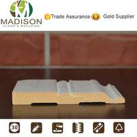 Gesso coted solid wood decorative baseboard