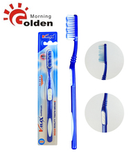 Double sided thin handle adult toothbrush with big head