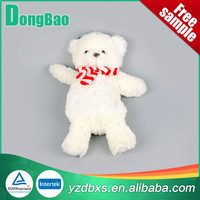 natural rubber white plush hot water bottle with teddy bear cover