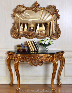 384AG New Designed Antique Console Table with Mirror