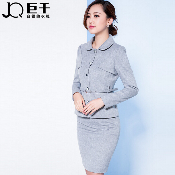2016 office uniform designs women high end JQ brands spring autumn formal ladies office skirt suit work career suits