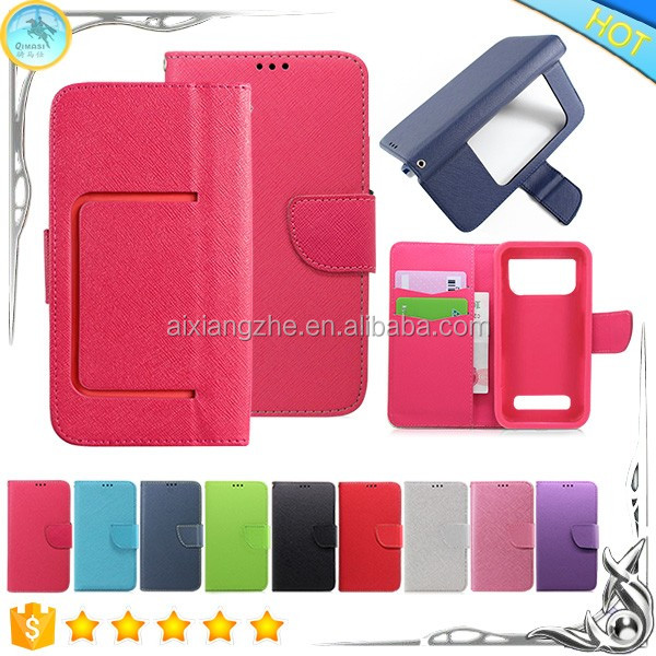 Cell Phone Stand Wallet with Card Holder with Factory Price Leather TPU Back Cover for Motorola Moto X Force