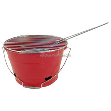 Outdoor Camping Barbecue Grill Mini Charcoal BBQ Bucket