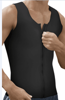 Latex men's zipper no boning motion waist trainer vest